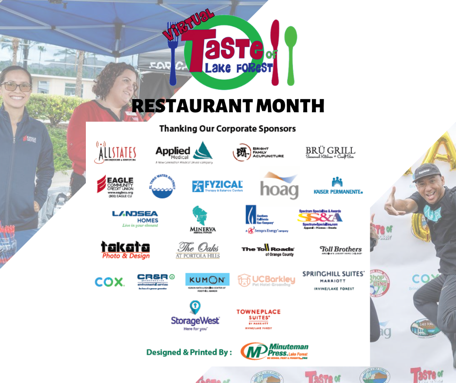 Virtual Taste of LF Participating Sponsors